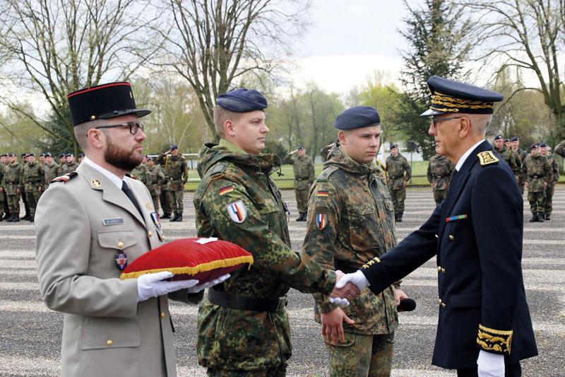 Deutscher Soldat in Frankreich ausgezeichnet